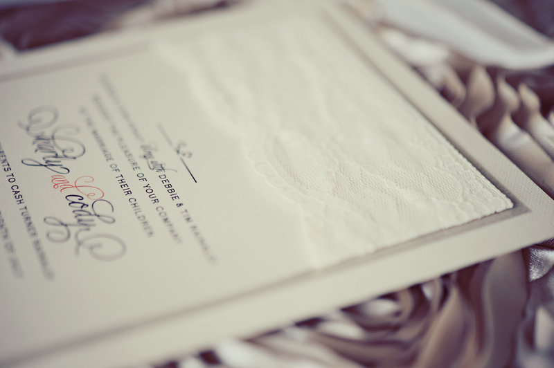 Wedding invitation by Plush Invitations at a Calgary wedding