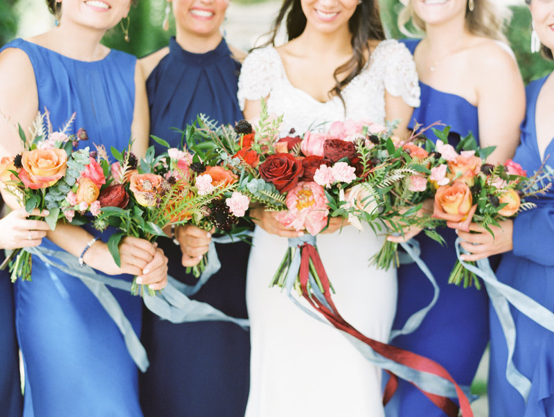Colorful and Bold Columbus Indiana Wedding