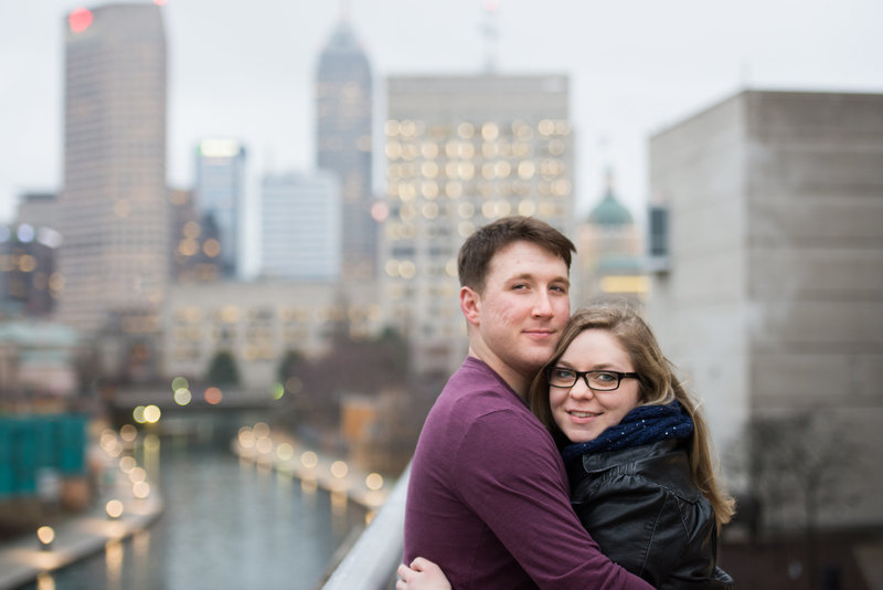 Engagement shoot canal Indianapolis
