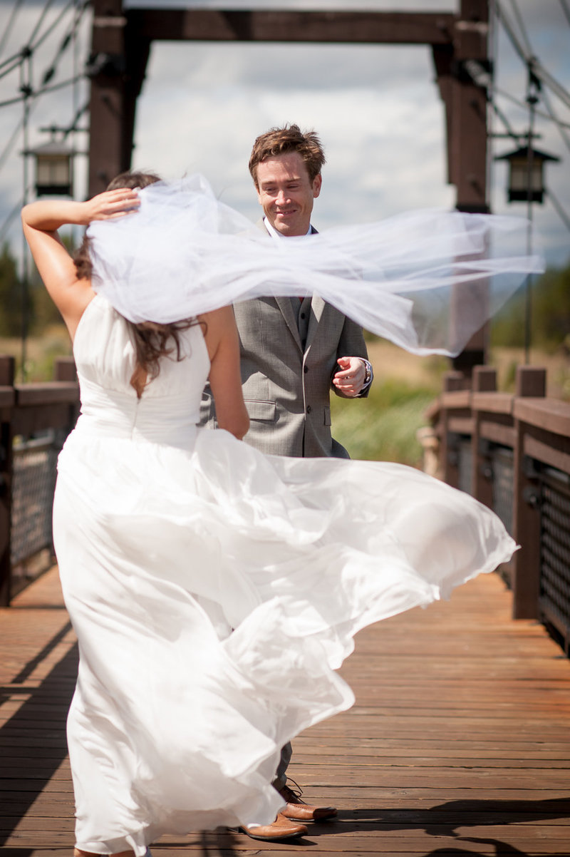 Caldera wedding photography on a windy day by Pete Erickson Photography.