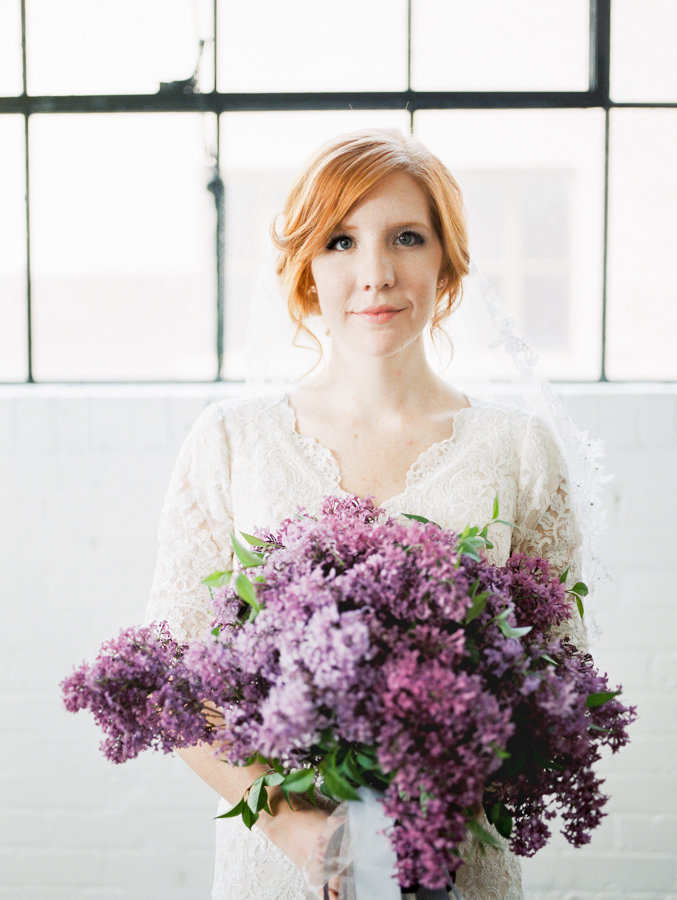 Floral Headshot Editorial Bridal Portraits Salt Lake City