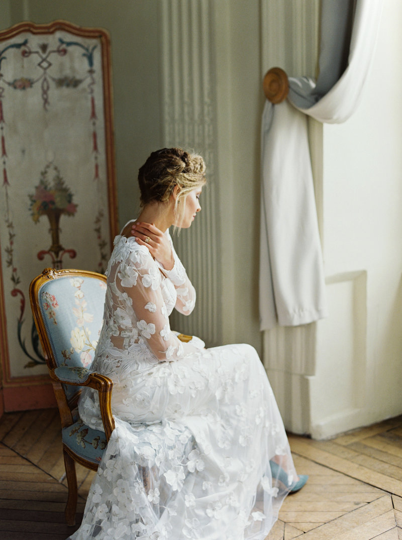 Saint Germain-en-Laye Bridal Editorial Session - French Grey Events and Cassie Valente Photography 0060