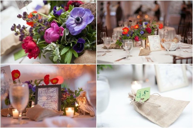 Wedding reception at Bartrams Garden florals by Love Fresh Flowers and Photo by Entwined Studio
