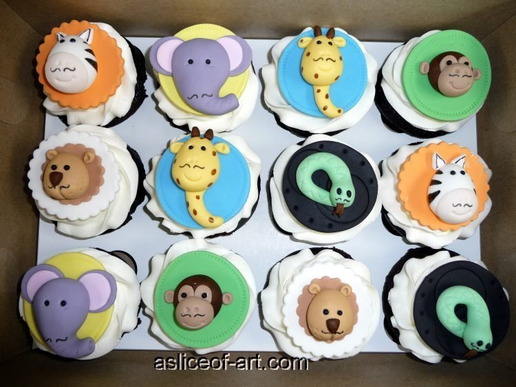 jungle themed cupcake toppers