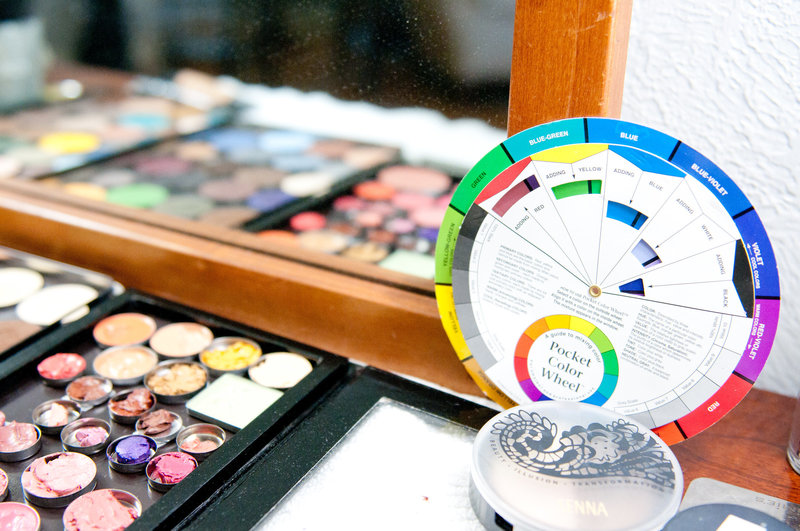 Color wheel showing the science of makeup  through lessons correct placement contour highlight San Jose Califorina