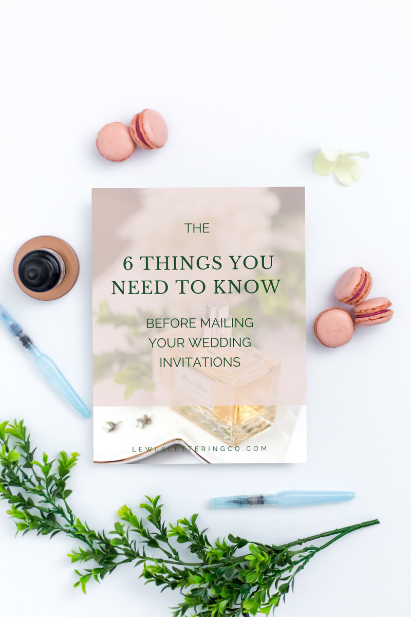 Download your guide to learn the 6 things to know before mailing your wedding invitations