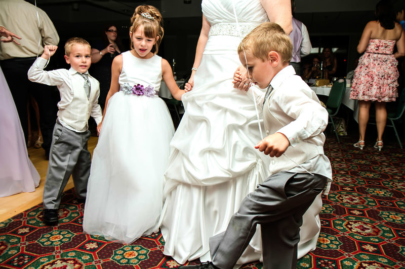 wedding photography dancing kids at reception-25