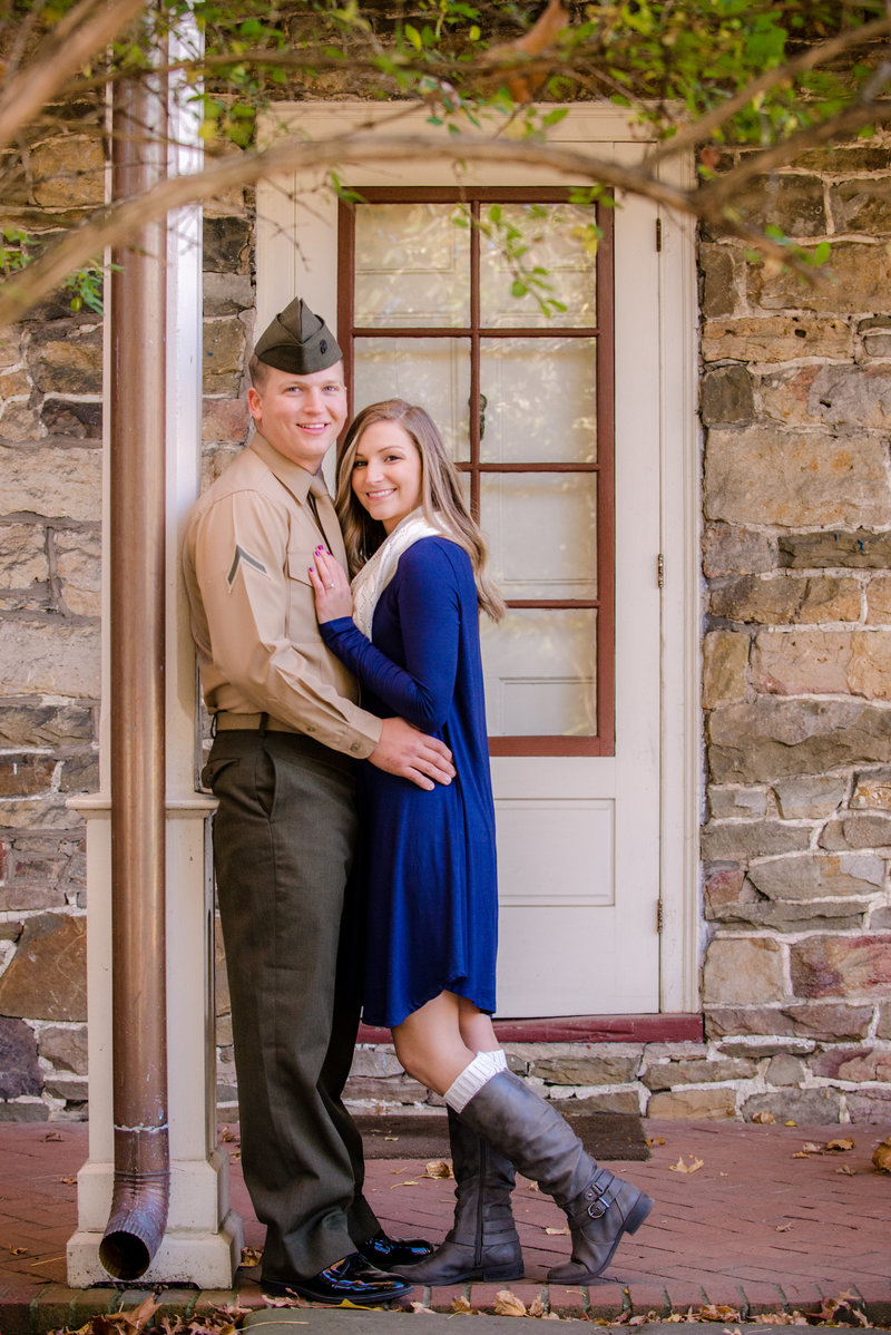 JandDstudio-engagement-rustic-vintage-military-fall (7)