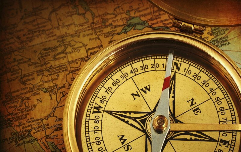 compass on a map travel wedding video