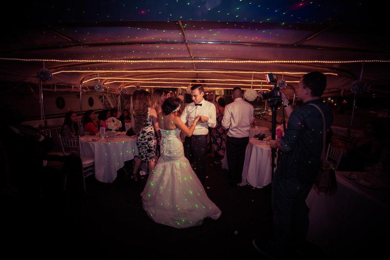 bride & groom dancing the night away