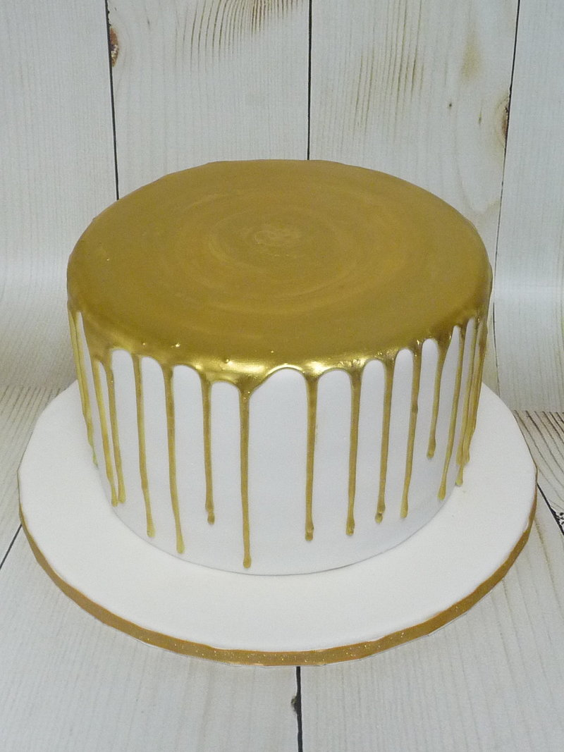 painted drizzle cake