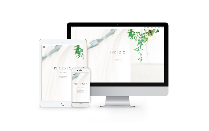 Phoenix ProPhoto Website template for photographers