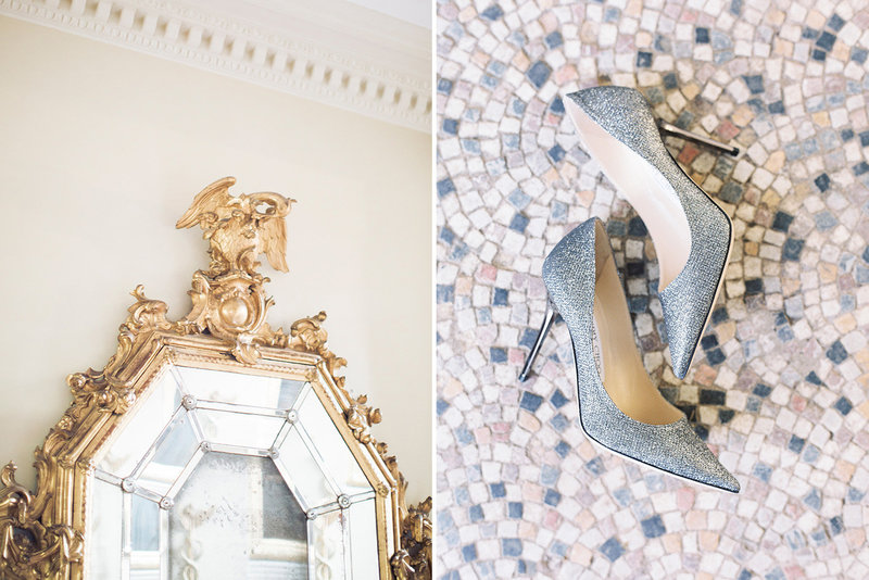 sarah hannam bradley house wiltshire wedding film photographer jimmy choo shoes