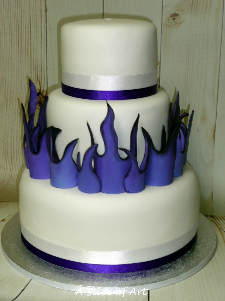 flames wedding cake