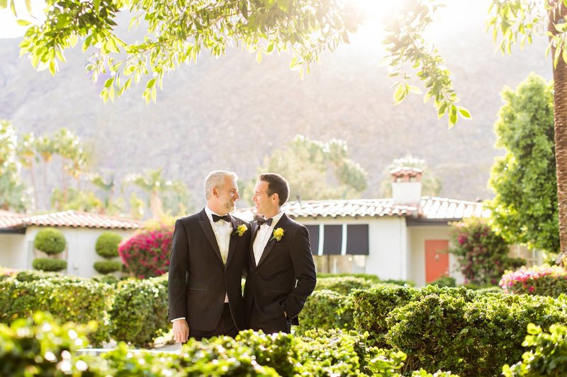 Beautiful gay wedding palms springs