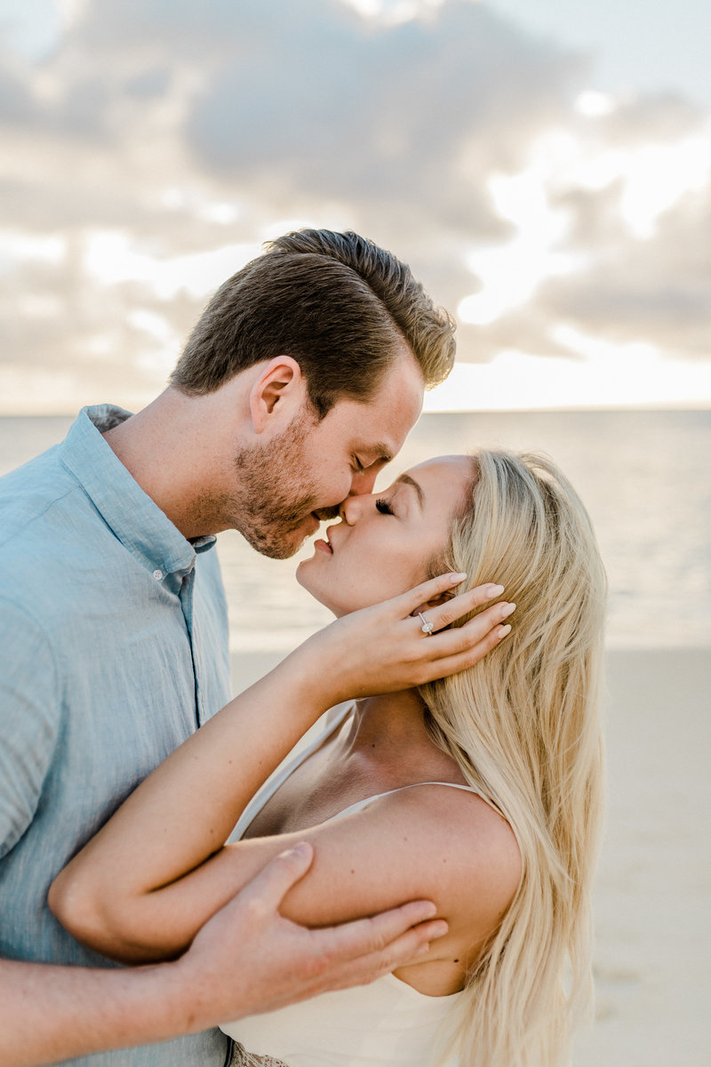Sunrise Engagement Session at Lanikai Beach, Hawaii