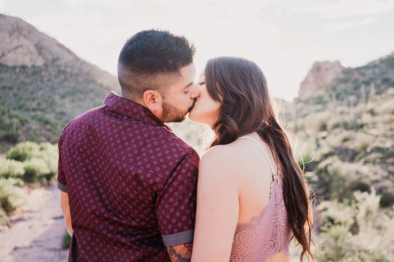 Atlas Rose Photography AZ Brittany & Chris Bulldog Canyon Kiss  01
