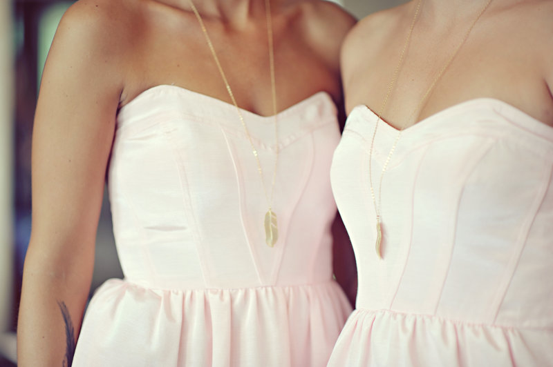 Bridesmaids in pink and gold for a Calgary Wedding
