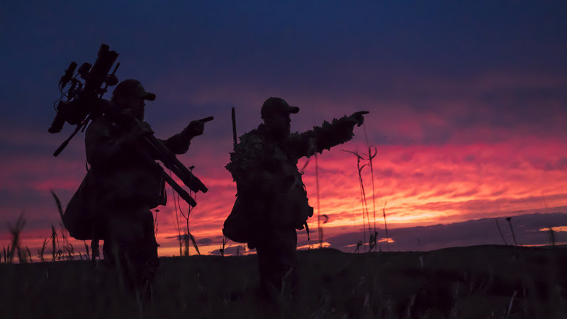 Jason Miller, Scott Cronin, and Raven 6 Studios putting the turkeys to bed in Nebraska