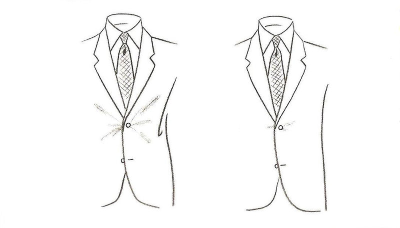 Suit Jacket Closure Front View