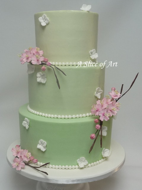 mintweddingcakecherryblossoms