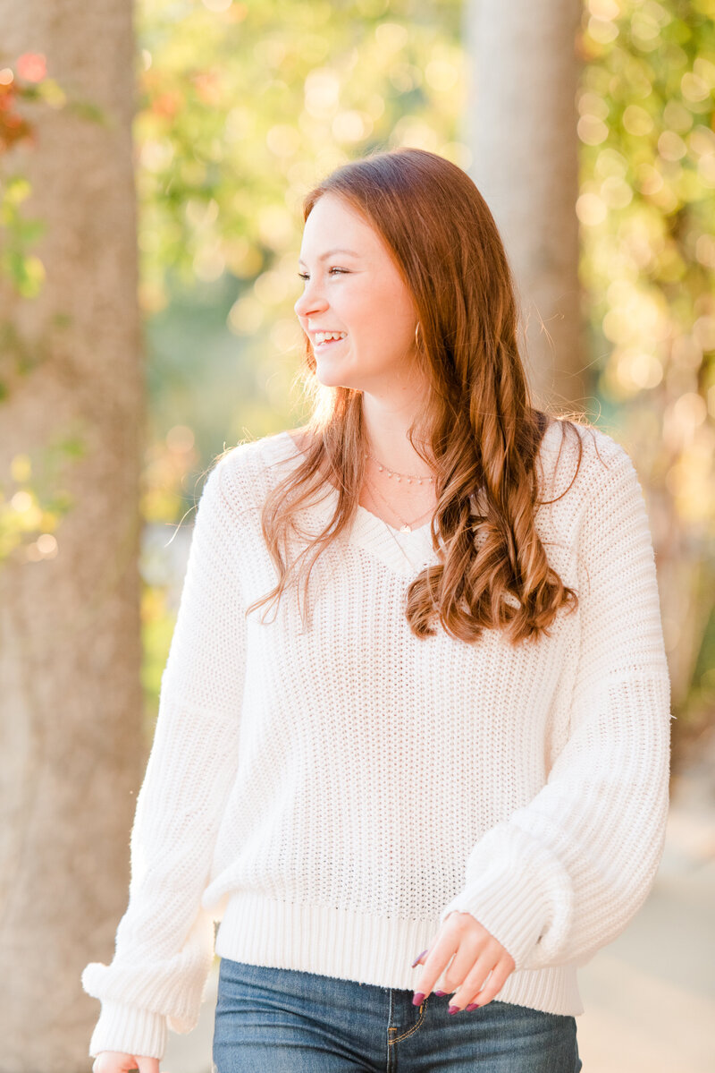 Richmond senior portrait photography casual fall maymont park girl-8
