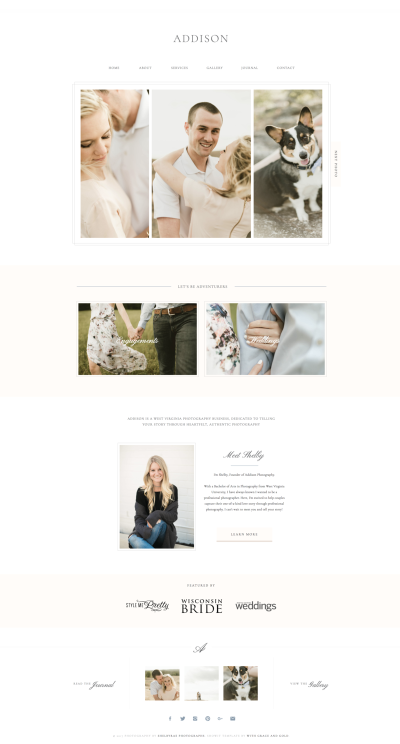 01 - Home - Addision - With Grace and Gold - Branding, Web Design, and Education for Creative Women in Business - Showit Design, Designs, Designer, Designers, Theme, Themes, Template, Templates - Photo