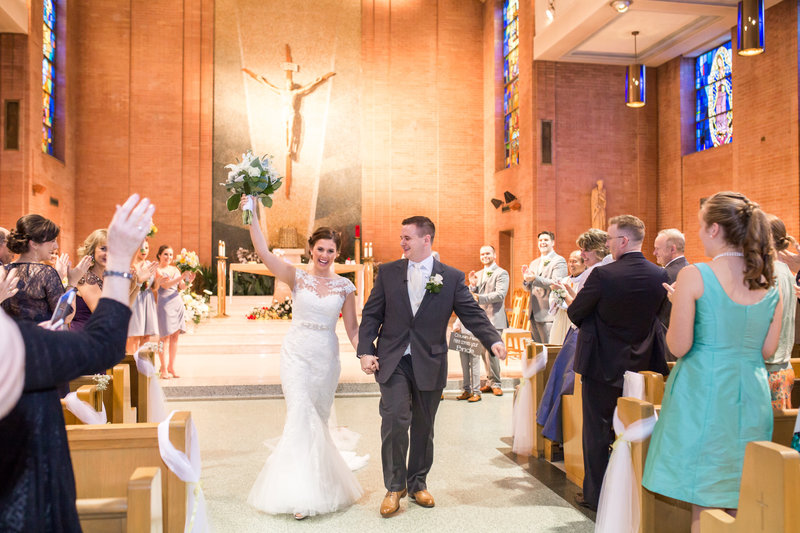 Wedding recessional photo