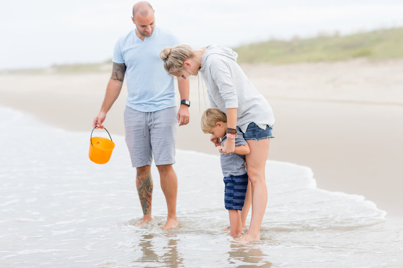 A family day at the beach for photographer brooke tucker