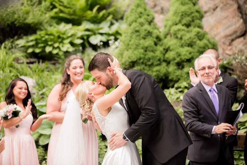 First kiss photo by NJ Wedding Photographers