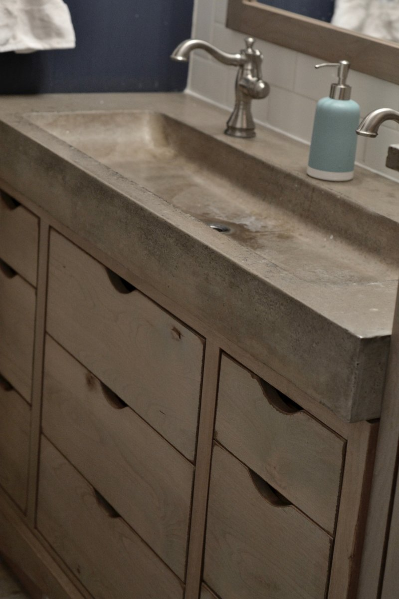 concrete sink trough sink