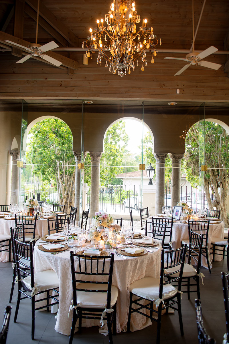 Coral Gables Country Club Atrium Room Rustic Wedding