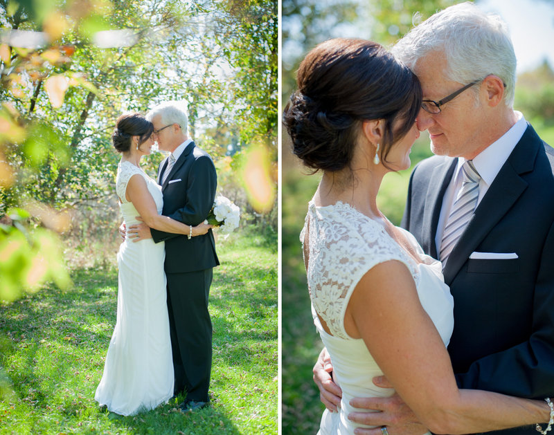 an older couple get married in Fargo in an intimate  family only wedding photographed by Kris Kandel