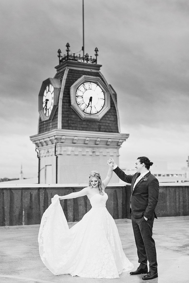 Wedding-Bride-Groom-Passalinos-Clock-Tower-Louisville-Kentucky-Photo-By-Uniquely-His-Photography059