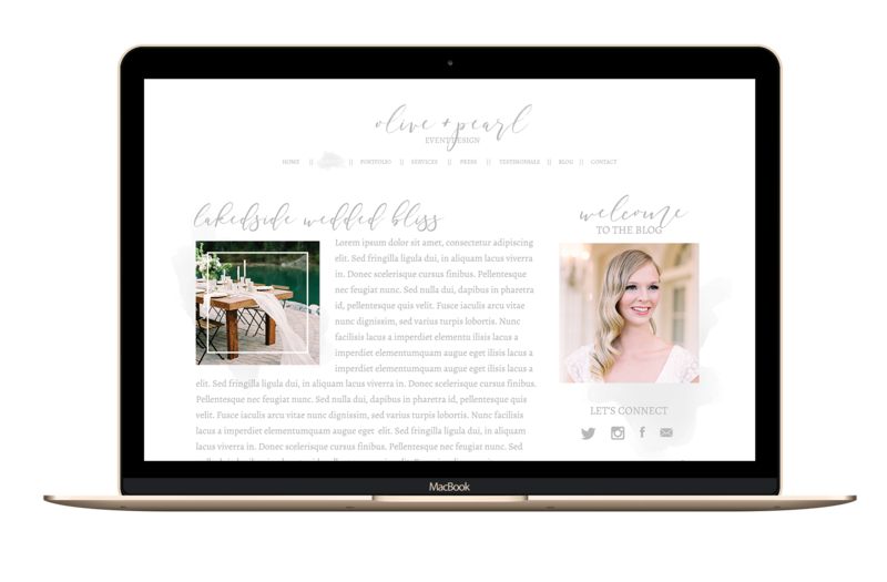 The Olivine Collective || Olive & Pearl || Showit5 Website Template for Wedding Planners