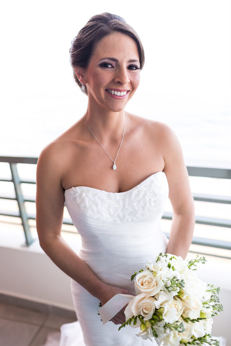 Bridal portrait at La Concha San Juan Resort