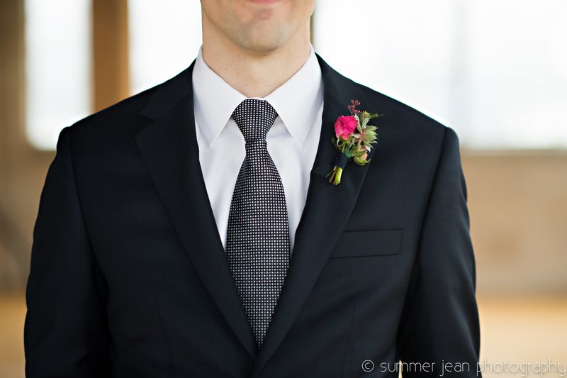 groom and boutonniere