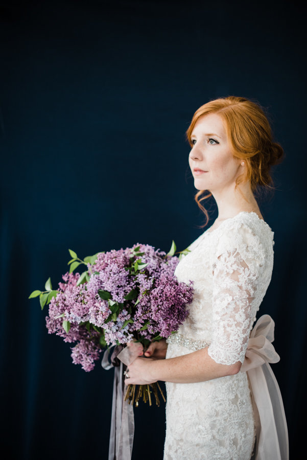 Bouquet Editorial Bridal Portraits Salt Lake City