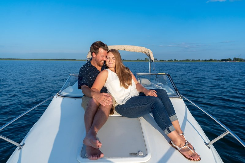 boating engagement session 16