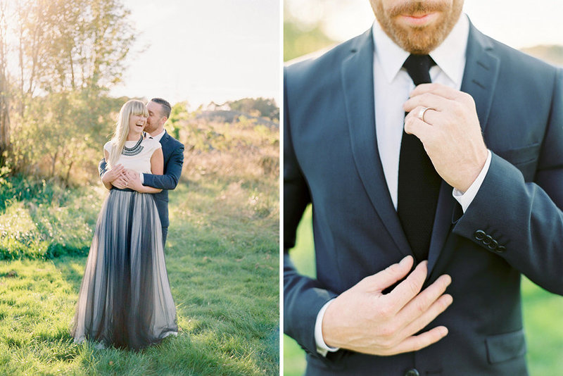 005-bride-and-groom-in-the-sunset--bride-in-black-tulle-skirt