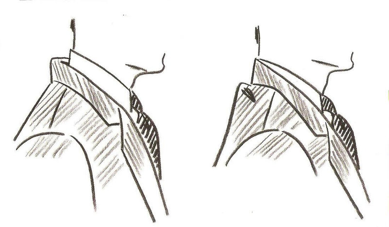 Incorrect Fit of Suit Jacket Collar