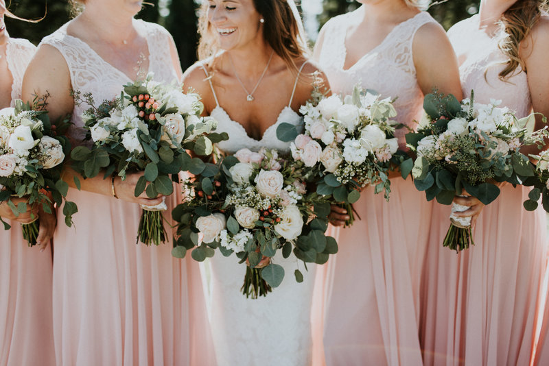 Whitefish Mountain MT Wedding Bridesmaids