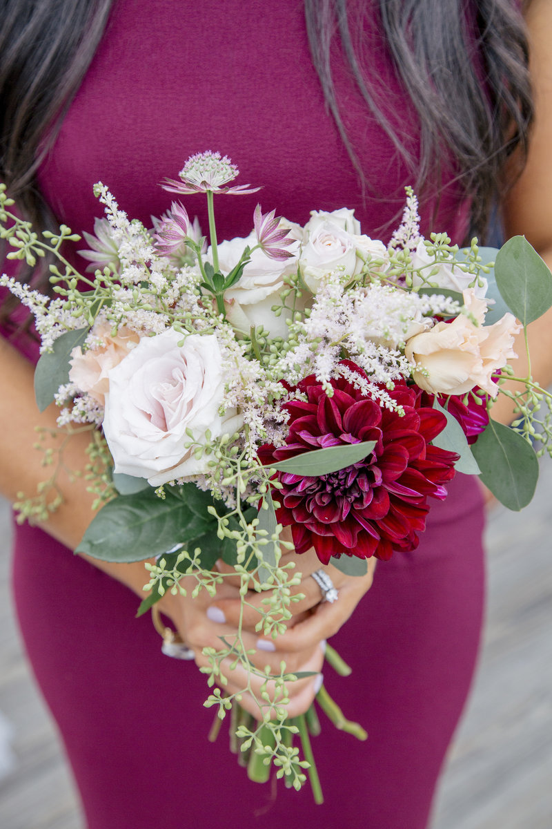 bridesmaid organic lush  bouquet