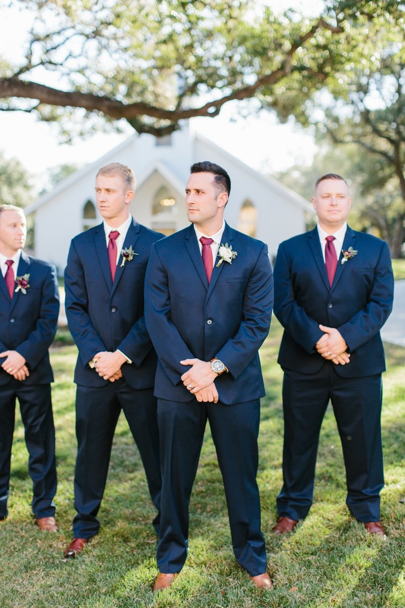 Groomsmen in Navy suits