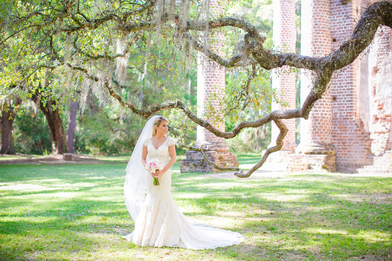 Old Sheldon Church Ruins Bridal Portraits