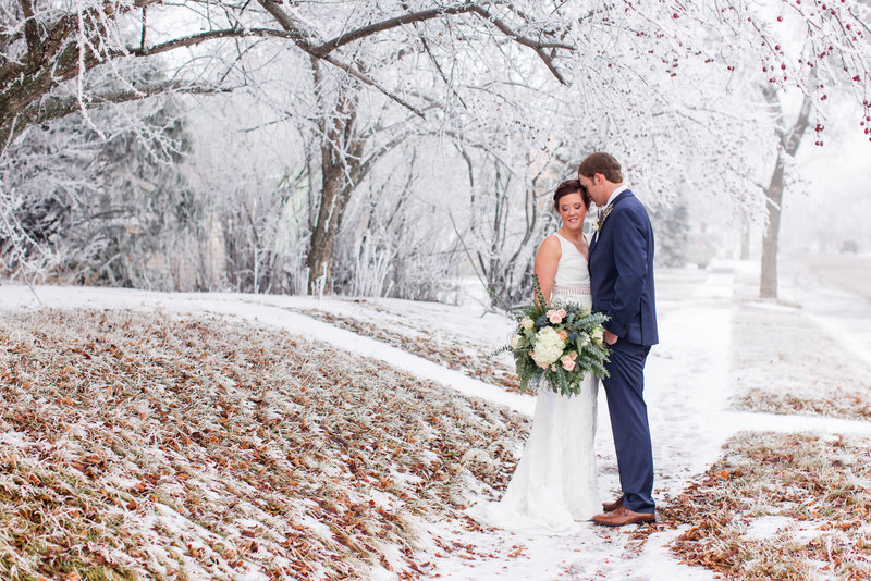 winter boho wedding stanley nd