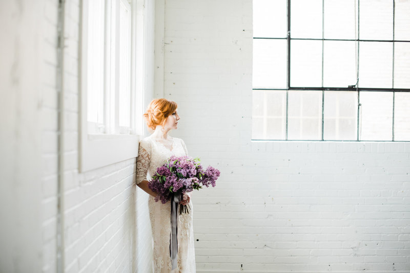 Floral Editorial Bridal Portraits Salt Lake City