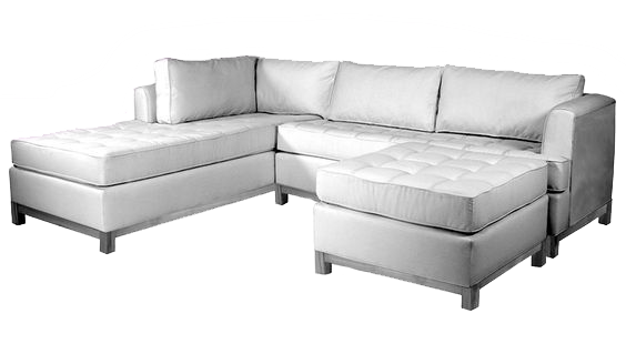 White sectional living room sofa at Hockman Interiors