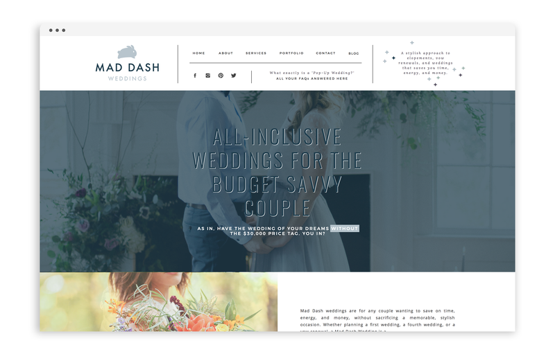 With Grace and Gold - Branding, Web Design, and Education for Creative Women in Business - Mad Dash Weddings  - 1