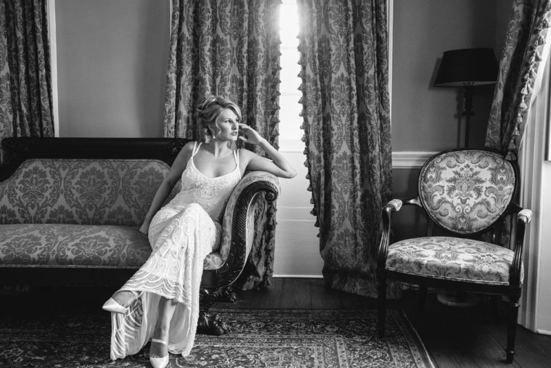 Timeless Bridal Portraits at Lowndes Grove